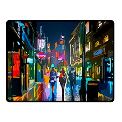 Abstract Vibrant Colour Cityscape Double Sided Fleece Blanket (small)