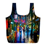 Abstract Vibrant Colour Cityscape Full Print Recycle Bags (L)  Front