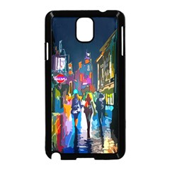 Abstract Vibrant Colour Cityscape Samsung Galaxy Note 3 Neo Hardshell Case (black)