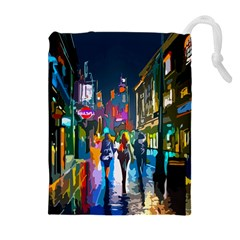 Abstract Vibrant Colour Cityscape Drawstring Pouches (extra Large)