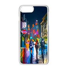 Abstract Vibrant Colour Cityscape Apple Iphone 8 Plus Seamless Case (white)
