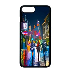 Abstract Vibrant Colour Cityscape Apple Iphone 8 Plus Seamless Case (black)