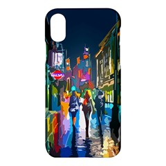 Abstract Vibrant Colour Cityscape Apple Iphone X Hardshell Case
