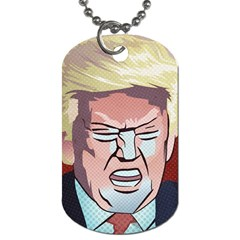 Donald Trump Pop Art President Usa Dog Tag (two Sides)