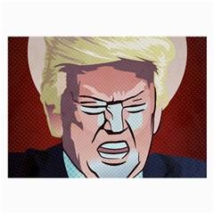 Donald Trump Pop Art President Usa Large Glasses Cloth (2 Side)