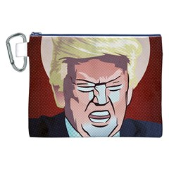 Donald Trump Pop Art President Usa Canvas Cosmetic Bag (xxl)