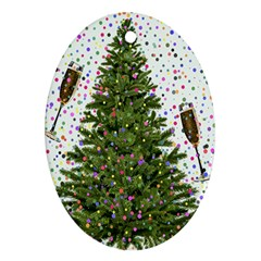 New Year S Eve New Year S Day Ornament (oval)