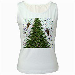 New Year S Eve New Year S Day Women s White Tank Top