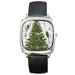 New Year S Eve New Year S Day Square Metal Watch