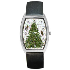 New Year S Eve New Year S Day Barrel Style Metal Watch