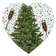 New Year S Eve New Year S Day Jigsaw Puzzle (heart)