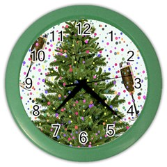 New Year S Eve New Year S Day Color Wall Clocks