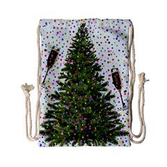 New Year S Eve New Year S Day Drawstring Bag (small)