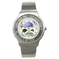 Vintage Shabby Chic Dragonflies Stainless Steel Watch