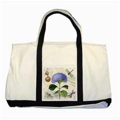 Vintage Shabby Chic Dragonflies Two Tone Tote Bag