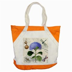 Vintage Shabby Chic Dragonflies Accent Tote Bag