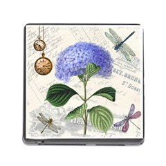 Vintage Shabby Chic Dragonflies Memory Card Reader (square)