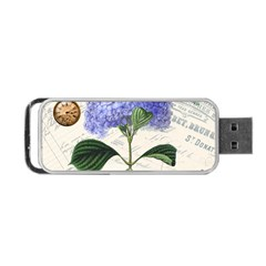 Vintage Shabby Chic Dragonflies Portable Usb Flash (one Side)