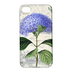 Vintage Shabby Chic Dragonflies Apple Iphone 4/4s Hardshell Case With Stand