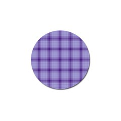 Purple Plaid Original Traditional Golf Ball Marker