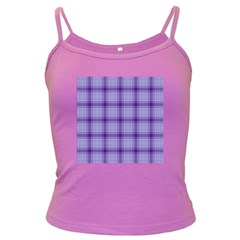 Purple Plaid Original Traditional Dark Spaghetti Tank