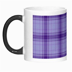 Purple Plaid Original Traditional Morph Mugs