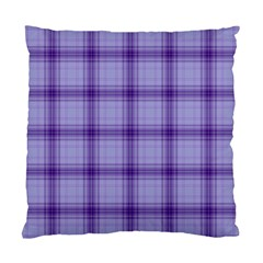 Purple Plaid Original Traditional Standard Cushion Case (two Sides)