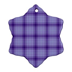 Purple Plaid Original Traditional Ornament (snowflake)