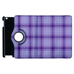 Purple Plaid Original Traditional Apple Ipad 3/4 Flip 360 Case
