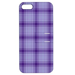 Purple Plaid Original Traditional Apple Iphone 5 Hardshell Case With Stand