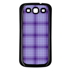 Purple Plaid Original Traditional Samsung Galaxy S3 Back Case (black)