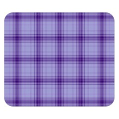 Purple Plaid Original Traditional Double Sided Flano Blanket (small)