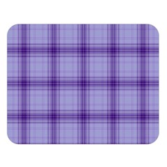 Purple Plaid Original Traditional Double Sided Flano Blanket (large)