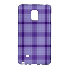 Purple Plaid Original Traditional Galaxy Note Edge