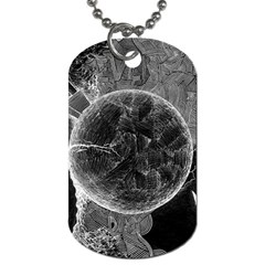 Space Universe Earth Rocket Dog Tag (one Side)