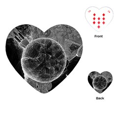 Space Universe Earth Rocket Playing Cards (heart)