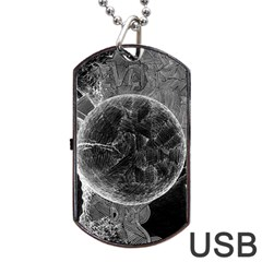 Space Universe Earth Rocket Dog Tag Usb Flash (one Side)
