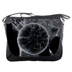 Space Universe Earth Rocket Messenger Bags
