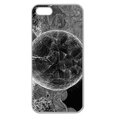 Space Universe Earth Rocket Apple Seamless Iphone 5 Case (clear)