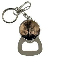 Tree Bushes Black Nature Landscape Button Necklaces