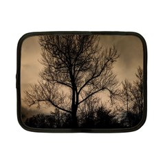 Tree Bushes Black Nature Landscape Netbook Case (small)