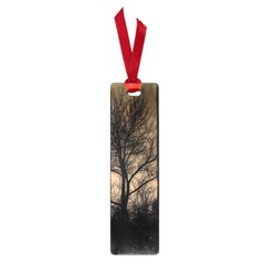 Tree Bushes Black Nature Landscape Small Book Marks