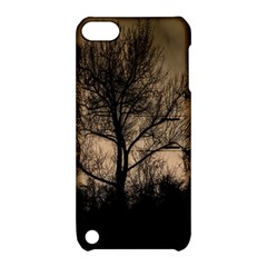 Tree Bushes Black Nature Landscape Apple Ipod Touch 5 Hardshell Case With Stand