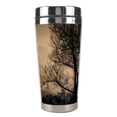 Tree Bushes Black Nature Landscape Stainless Steel Travel Tumblers