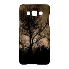 Tree Bushes Black Nature Landscape Samsung Galaxy A5 Hardshell Case