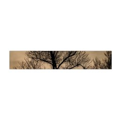 Tree Bushes Black Nature Landscape Flano Scarf (mini)
