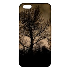 Tree Bushes Black Nature Landscape Iphone 6 Plus/6s Plus Tpu Case