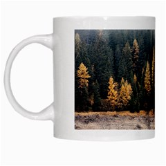 Trees Plants Nature Forests Lake White Mugs