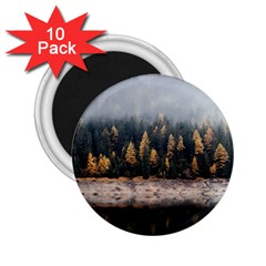 Trees Plants Nature Forests Lake 2 25  Magnets (10 Pack)