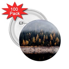 Trees Plants Nature Forests Lake 2 25  Buttons (100 Pack)